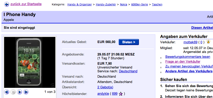 ebay deutschland fake iphone