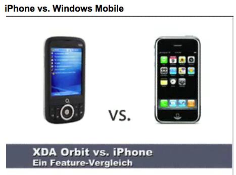 iphone vs windows XDA