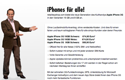simyo - Apple iPhone 3<span style=