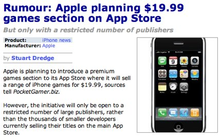 Rumour_ Apple planning $19.99 games section on App Store, news, iPhone news, PocketGamer.biz.jpg