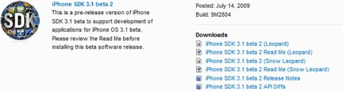 iPhone 3.1 beta 2 released.jpg