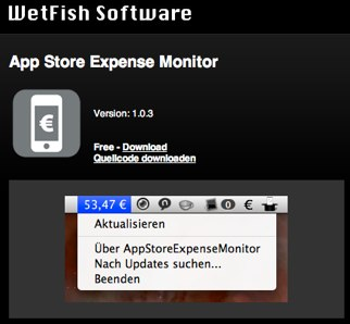 WetFish Software » Software » App Store Expense Monitor (Mac OS X).jpg