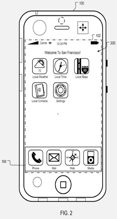 AppleInsider | Apple proposes location-based iPhone home screens.jpg