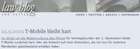 law blog» Archiv » T-Mobile bleibt hart.jpg