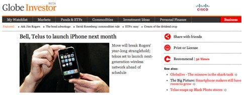 Bell, Telus to launch iPhone next month - The Globe and Mail.jpg