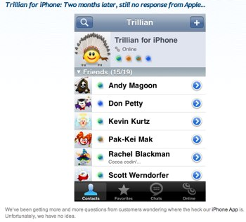 Cerulean Studios' Blog » Blog Archive » Trillian for iPhone_ Two months later, still no response from Apple….jpg