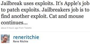 Twitter _ Rene Ritchie_ Jailbreak uses exploits. I ....jpg