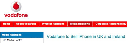 Vodafone to Sell iPhone in UK and Ireland - Vodafone.jpg