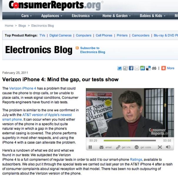 IPhoneBlog de Consumer Reports Electronics