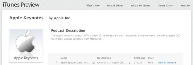 IPhoneBlog de Apple Keynotes