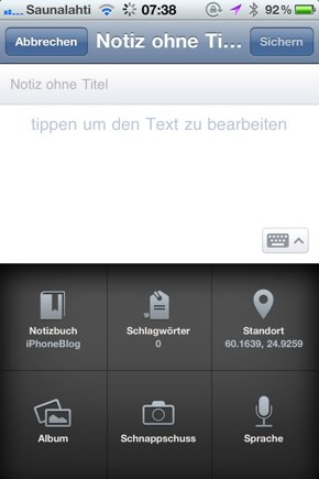 IPhoneBlog de Evernote2