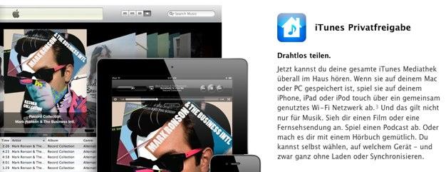IPhoneBlog de Privatfreigabe