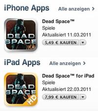 IPhoneBlog de iTunes Dead Space