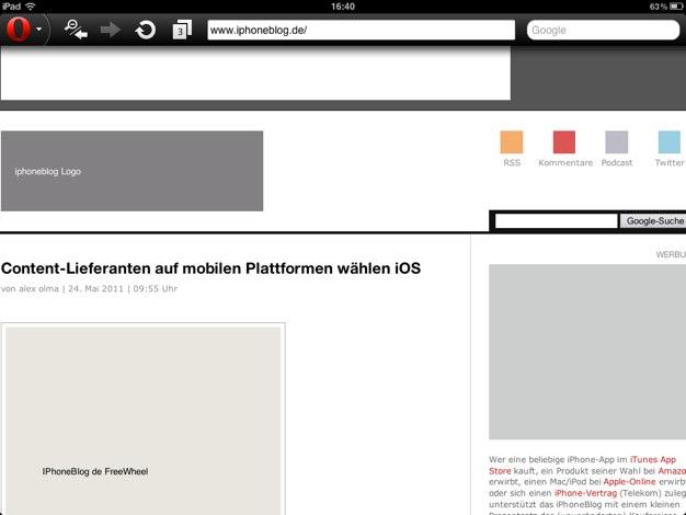 IPhoneBlog de Opera 1