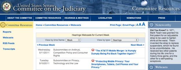 IPhoneBlog de US Senat