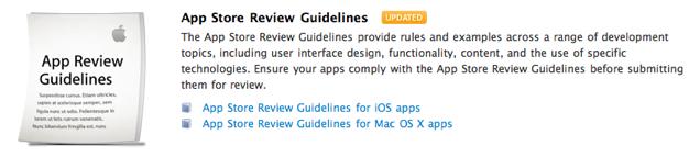 IPhoneBlog de App Store Review Guidelines