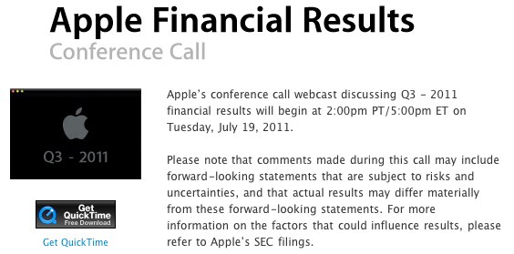 IPhoneBlog de Financial Results