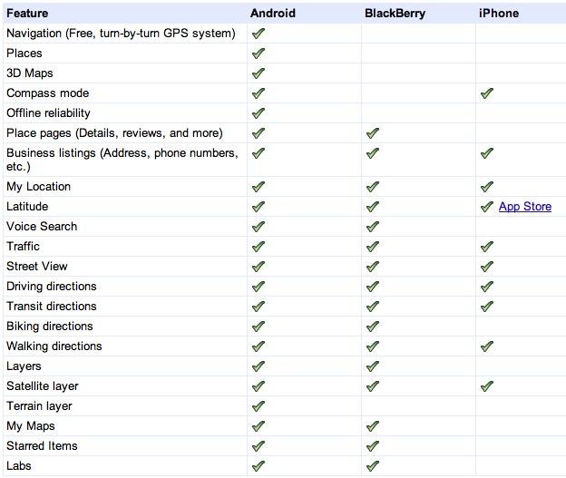 IPhoneBlog de Google Maps for mobile