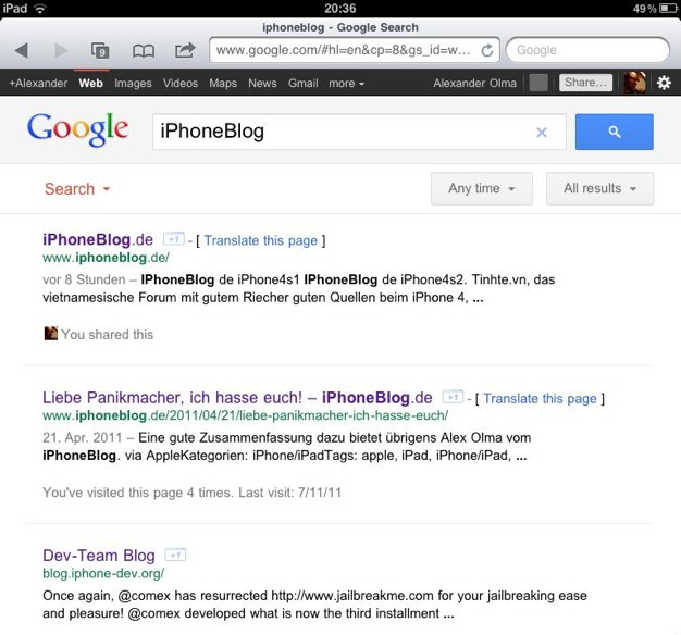 IPhoneBlog de Google