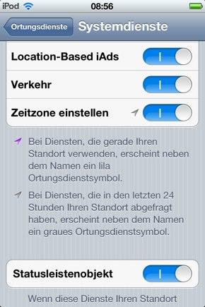 IPhoneBlog de Systemdienste