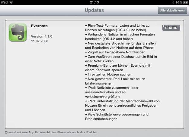 IPhoneBlog de Evernote