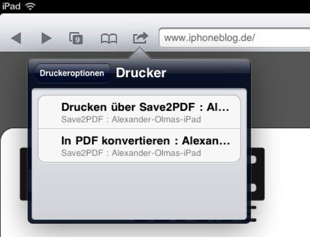 IPhoneBlog de Save2PDF