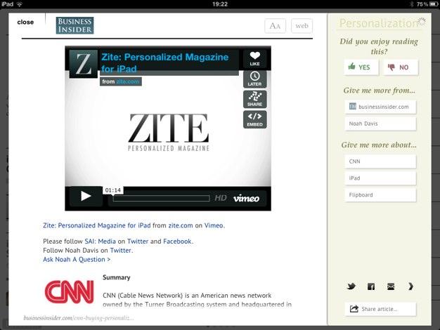 IPhoneBlog de Zite CNN