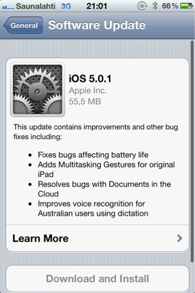 IPhoneBlog de iOS 5 0 1