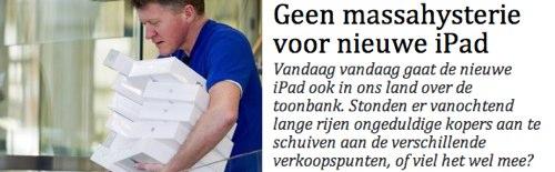 IPhoneBlog de De Standaard Belgien