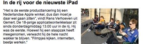 IPhoneBlog de De Telegraaf Holland