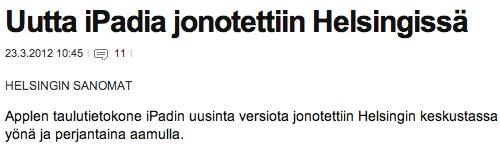 IPhoneBlog de Finnland Helsingin Sanomat