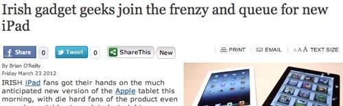 IPhoneBlog de Irish Independent ie