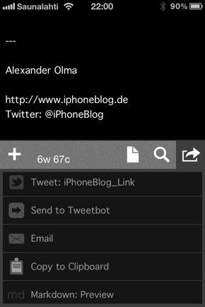 IPhoneBlog de Drafts b