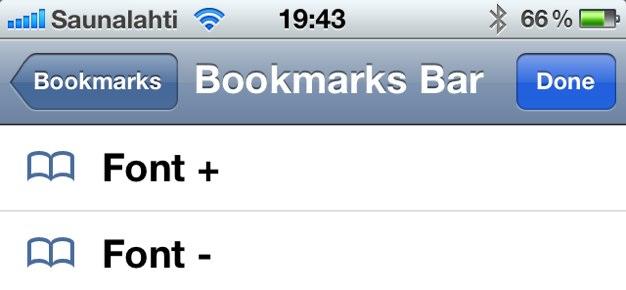 IPhoneBlog de Font Bookmarklet