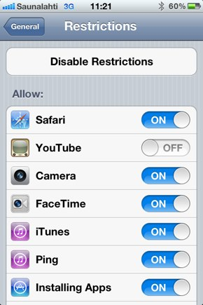 IPhoneBlog de Restrictions