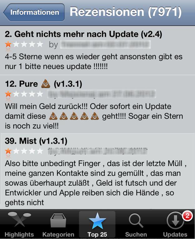 Iphoneblog de App Store Kommentare