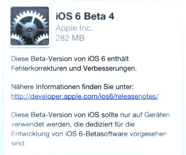 IPhoneBlog de iOS6 beta4