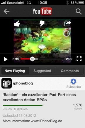 IPhoneBlog de YouTube a