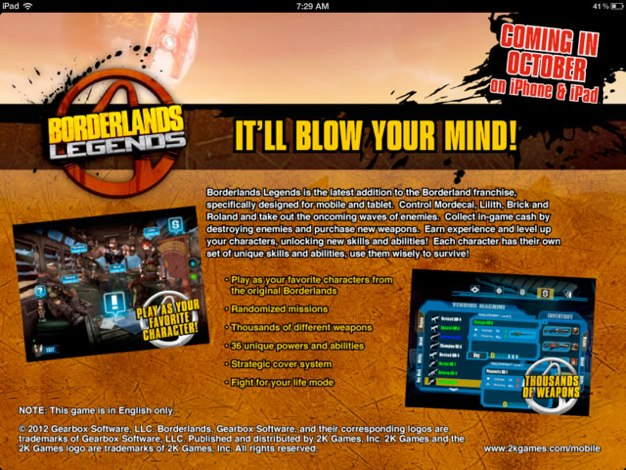 IPhoneBlog de Borderlands Legends