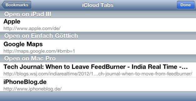 IPhoneBlog de iCloud Tabs