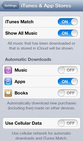 Match iphone downloading not itunes