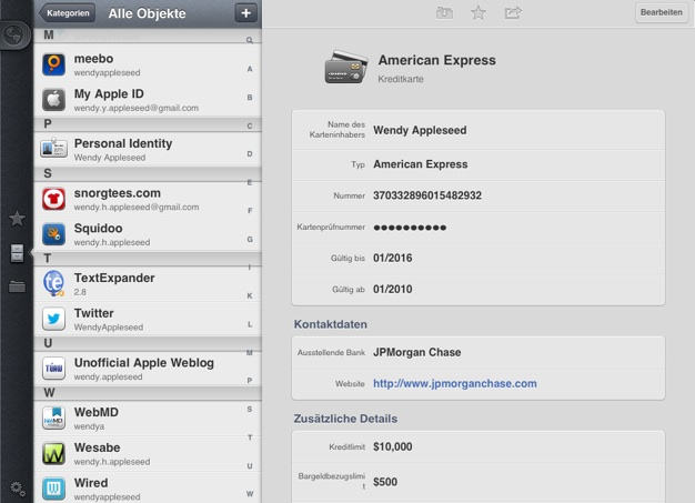 IPhoneBlog de 1Password iPad