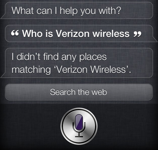 IPhoneBlog de Siri Verizon Wireless