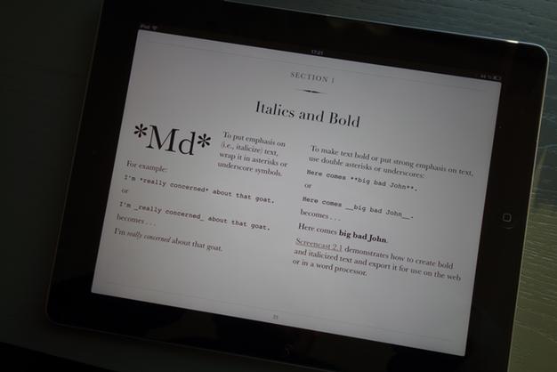 IPhoneBlog de Markdown iBooks