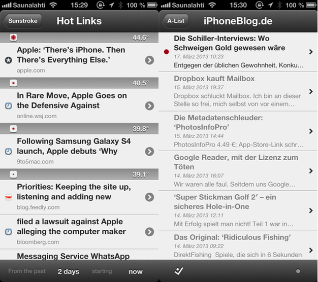 IPhoneBlog de Sunstroke Screenshots