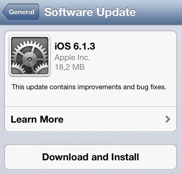 IPhoneBlog de iOS 6 1 3