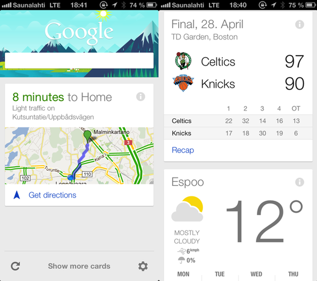 IPhoneBlog de Google Now