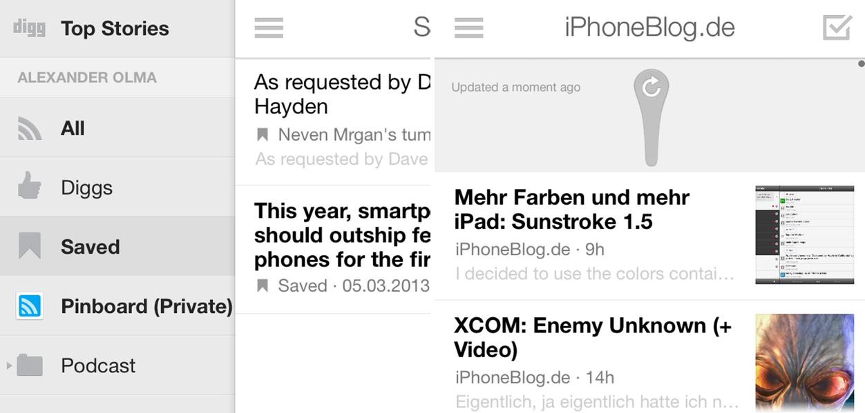 IPhoneBlog de Digg Reader