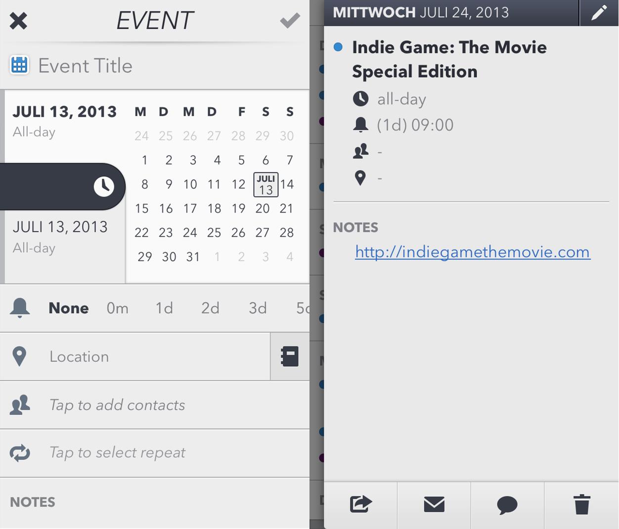 IPhoneBlog de Calendar4