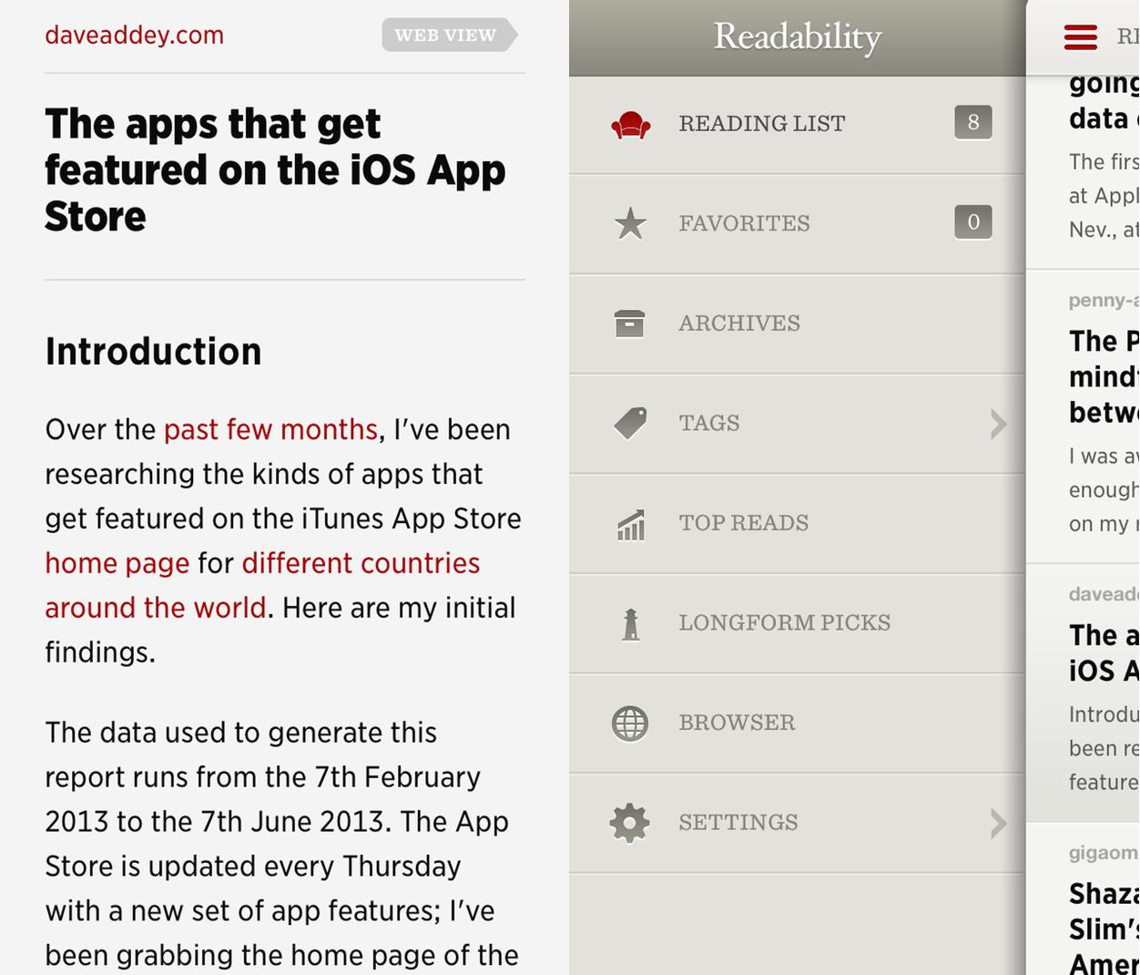 IPhoneBlog de Readability iPhone